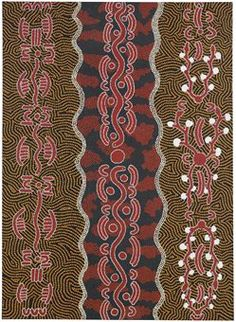 Big Dave Oldfield Tjupurrula (Aboriginal, 20th Century)  Yala, Snake and Dingo Dreaming  signed, numbered and titled '1289197 B.D.O. Big Dave Oldfield 'Yala, Snake + Dingo Dreaming' (on the canvas overlap)  oil on canvas, unframed  66¼ x 48 in. (168.2 x 121.9 cm.)  Painted in 1985.