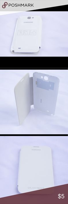 Samsung Galaxy Note 2 II Flip Case - White If you are looking to find where you can buy a Samsung Galaxy Note 2 case, you have found the right place! This is the best Samsung Galaxy Note 2 cover with free shipping and ready for use. The case is made of a hard-plastic case material that protects your Samsung Galaxy Note 2 from drops, dirt, and dust. Comes with awesome features such as:  Cover protects screen from dings and bruises Plastic Back Material for Impact Resistance Easy to use and…