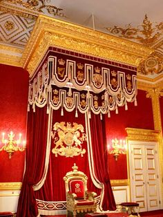 The Throne Room at St James's Palace, London, during the Olympics you can now rent a room in the Palace for £30,000 per day!!