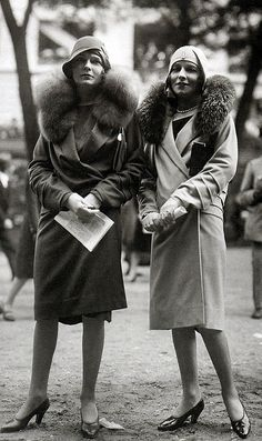 Paris Fashions at the Grand Steeplechase at Auteuil, 1928 (by thefoxling, via Flickr)