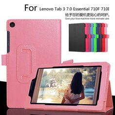Đối với Lenovo Tab3 7 Tinh 710F 7.0 inch Trường Hợp Máy Tính Bảng Vải PU da Bìa Cho Tab 3 710I Slim Bảo Vệ shell + Phim + Bút