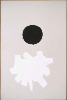 """""""Black Plus White"""" by Adolph Gottlieb, 1960. This beautifully balanced graphic painting can inspire even the least artistic of us to try our hand at DIY wall art."""