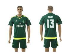 Real Madrid 13 navas Away Goalkeeper 2015-16 Green jerseys