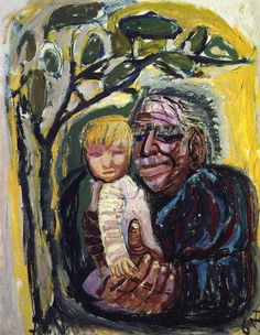 Otto Dix Self Portrait with Marcella 1968