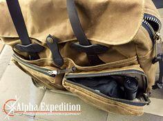 Filson 72 Hour Briefcase Adventure Medical Field Trauma Kit Olight R40 Seeker flashlight www.alphaexpedition.com