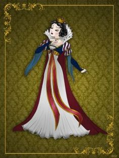 Queen SnowWhite - Disney Queen designer collection by GFantasy92 Disney Fan Art, Disney Nerd, Disney Girls, Disney Style, Disney Princess Snow White, Snow White Disney, Disney Princess Art, Princess Mary, Disney E Dreamworks
