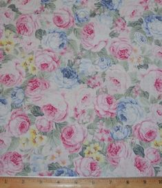 Festive Roses by Benertex Red roses on cream BTY Quilting Cotton
