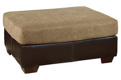 Tan Sanya Ottoman by Ashley HomeStore Seat Cushions, Pillows, Sanya, Chair And Ottoman, New Furniture, Mocha, Two By Two, Upholstery, New Homes