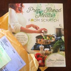 Look what came in the mail right before I left for the Blogher Food Conference : My cookbook! I am so excited to be able to hold my book, Prep-Ahead Meals From Scratch, in my hands!  The photographer did an amazing job capturing my recipes! And Page Street Publishing's design team and editors pulled it all together into a gorgeous book that will be easy for readers to use.  It will be released on 1/26/2016 but is available for presale on Amazon and Barnes, Noble and other book stores now.