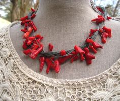 Coral Jewelry  Coral Necklace  Bohemian by MoobieGraceDesigns, $35.00