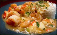 SHRIMP and CRABMEAT ETOUFFEE  2 onions, chopped 2 stalks celery, chopped 1 teaspoon olive oil 1/4 teaspoon Granulated Garlic 2 1/2 cup chicken broth 1/4 cup flour 3 tablespoons lemon juice 1/8 teaspoon Cayenne Pepper, or to taste 2 teaspoons Tabasco sauce 1 1/2 lb shrimp, peeled and deveined 1 1/2 lb lump crabmeat 1/4 cup green onions, chopped 1/4 cup fresh parsley or 1 1/2 tablespoon Dried Parsley