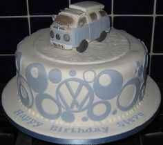 fondant cake for the VW enthusiast