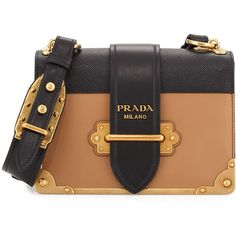 Prada Cahier Notebook Shoulder Bag (€2.420) ❤ liked on Polyvore featuring bags, handbags, shoulder bags, color block purse, flap handbags, colorblock handbags, shoulder handbags and shoulder bag handbag