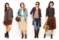 Madewell Fall 2011.  I especially love those old school hiking inspired boots with the red laces.