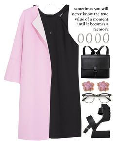 """""""Untitled #1227"""" by chantellehofland ❤ liked on Polyvore featuring MANGO, Jil Sander, ASOS, xO Design, Monki and Forever 21"""
