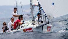 Students sailing in Gran Canaria.