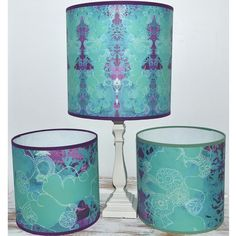 blooming bryony lichen dreams drum lampshades