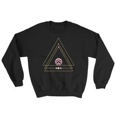 Golden Triangle Sweatshirt #ethericlife #clothinggifts #scichic #scientificgifts #hardtoshopforgifts #geekgifts #geekchic