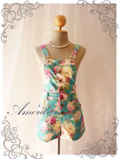 Floral Overall Shorts // Overall Jumper // Summer by Amordress