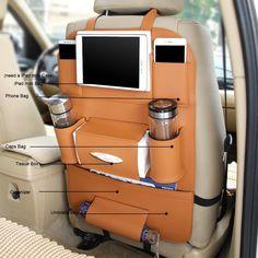 Auto Rücksitz Organizer, Pushingbest Auto Rückenlehnenschutz Autositz Organizer Autositztasche Reisewagensitzbeutel, Kinder Rücksitzschoner Kick-Matten-Schutz passend für die meisten den Autositz