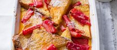 Rhubarb and Custard Bread and Butter Pudding Recipe