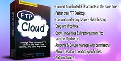 Ftp Cloud . Cloud FTP is a multiple FTP sites manager that helps you to connect, upload, download, drag and drop files from your desktop to unlimited different FTP sites. Also manage/transfer files between them in your browser, anywhere, any