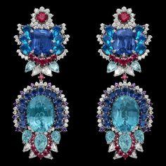 Dior Jewellery – Dear Dior: 'Dentelle Saphir Iris' earrings. Discover more on www.dior.com @Dior