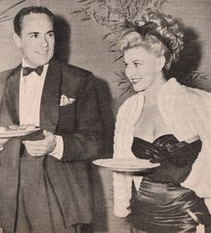 Buddy Rogers mingles with Ginger Rogers (no relation) at a party in 1946. Both Rogerses have streets named for them in the Palm Springs area.