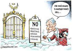 Dave Granlund cartoon on the passing of Playboy creator Hugh Hefner.