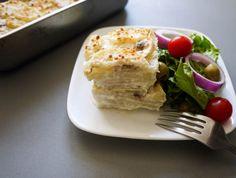 Jansson's Temptation (Daikon Radish Gratin) - Daikon radish baked in a light, seasoned cream sauce with onion and anchovies.