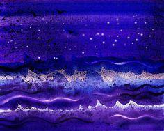 'Starry Night Abstract II' - http://irina-sztukowski.artistwebsites.com/featured/starry-night-abstract-ii-irina-sztukowski.html