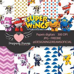 SUPER WINGS kit digital grátis - Cantinho do blog