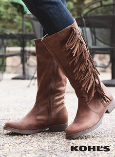 136663ff4df5 Mudd® Women s Fringe Riding Boots. Kohl s