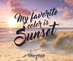My favorite color is Sunset!!!