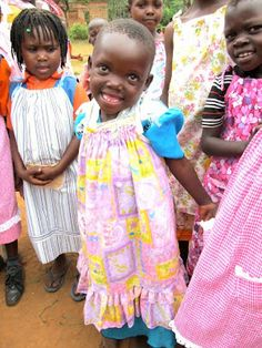 sew dresses for girls around the world!  patterns included.  very easy dresses!