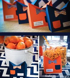 """""""little man"""" 1st birthday business men shirts and bow tie food labels"""