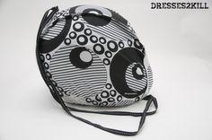 Funda Casco Discos * Discos Helmet Bag  www.dresses2kill.com  Dresses2Kill - Handmade Clothing