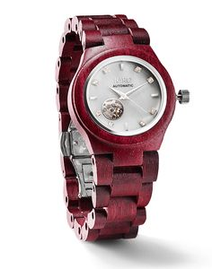 How awesome is this WOOD WATCH!! Cora Series Women's Wood Watch by JORD - Purple Heart and Pearl