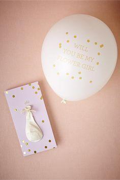 Pop-the-Question Flower Girl Card