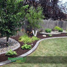 Hedges Landscaping, Landscaping Along Fence, Backyard Fences, Landscaping With Rocks, Backyard Landscaping, Landscaping Ideas, Backyard Ideas, Inexpensive Landscaping, Fence Ideas