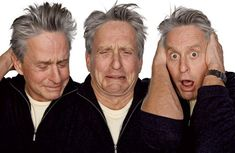 michael douglas acting in character Funny Faces: Famous Actors Acting Out [20 Pics]