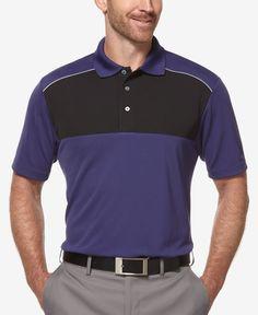 70cddc31957 PGA TOUR Men s Colorblocked Airflux Golf Polo Shirt Men - Polos - Macy s