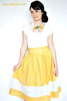 DIY Clothes DIY Refashion DIY Theres nothing borderline about this cute skirt