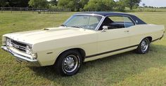 1968 Ford Torino GT with factory 390 - Today Pin Ford Convertible, Ford Lincoln Mercury, Ford Torino, Ford Capri, Ford Classic Cars, Ford Fairlane, Car Ford, Ford Motor Company, American Muscle Cars
