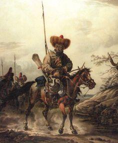 Tatar on Horseback - Aleksander Orlowski