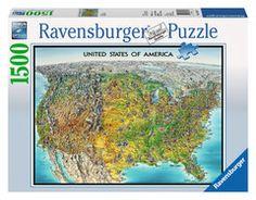 USA Map | Adult Puzzles | 2D Puzzles | Shop | US | ravensburger.com