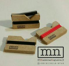 Porta Cartão de Crédito em MDF