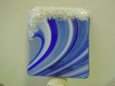 Fused Glass Wave Night Light by LaGlasSea on Etsy