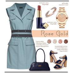 Rose Gold Day.. by vkevans on Polyvore featuring мода, Lattori, Pour La Victoire, Latico, Movado, Anne Sisteron, Estée Lauder, Terre Mère and vkevans