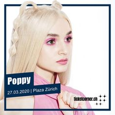 Wer Poppy noch kennt, hat definitiv was verpasst: Sängerin, Model, Internetsensation und zum ersten mal in der Schweiz! 🧚‍♀️🔮  ⭐ VVK-Start Live Club: 10.10.2019. 8 Uhr 🎟️ VVK-Start: 11.10.2019, 10 Uhr Pop Rocks, Ticket, Poppies, Live, Model, Movie Posters, Biography, Switzerland, Pictures